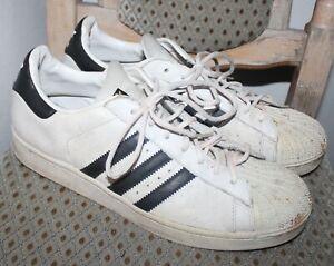 Adidas Superstar Sneaker Schuhe Laufschuhe Sport Größe 47 2/3 weiß used
