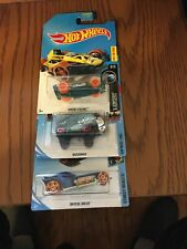 3 Hotwheels Treasure Hunt Cars Common Models Mint On Cards All For One Pr