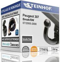 ATTELAGE fixe PEUGEOT 307 Break/SW 2005-2008+FAISC.UNIV.7-broches COMPLET