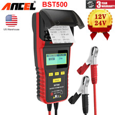 ANCEL BST500 12V/24V Heavy Truck Battery Charge System Tester Thermal Printer