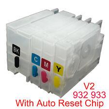 For HP 932 933 Officejet 7611 7612 7510 7512 7610 Refillable Ink Cartridge V2