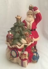 "Department 56 Santa Cookie Jar Toy Bag Christmas 13"" tall"