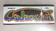 Galaxian marquee sticker. 3 3/8 x 8.75. (Buy any 3 stickers, Get One Free!)