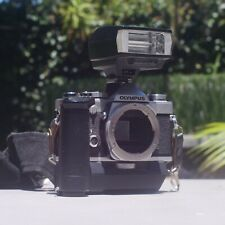 Olympus OM-1n 35mm OM Mount Film Camera with Motor Drive and Hot Shoe Flash