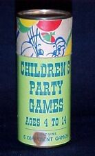 1960s Vintage Children Party Games Set, Compact 6 games,Birthday Art Emoss-Print