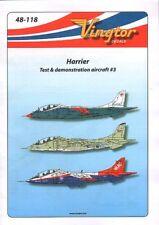 Vingtor 1/48 BAe Harrier - Test & Demonstration Aircraft No.3 # 48118