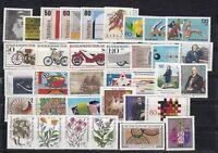 Bund Jahrgang 1983 - Auswahl aus Michel Nr. 1162 - 1196  , ** , postfrisch