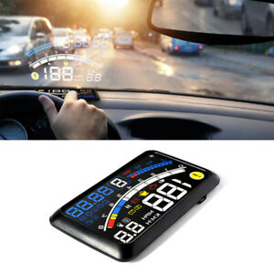 5.5'' OBII EOBD Car HUD Head Up Display Digital Speed Warning System Fuel Gauge