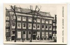 Amsterdam - Jeugd-Hotel 'De Laurier' - real photo postcard