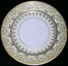 Set 5 Luncheon Plates Vintage 1920-40 Ovington New York Gold Yellow Paint Japan