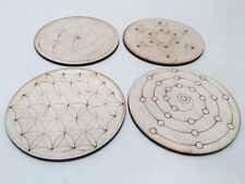 20 Sets of 4 Mini Wooden Crystal Grid Plates Travel Size - Listing for Tanya