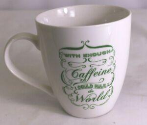 Pfaltzgraff With Enough Caffeine I Could Rule World Large Coffee Mug Cup 18 oz