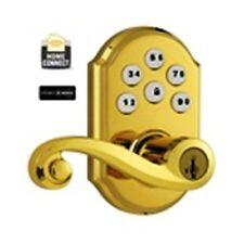 Kwickset Smartcode Z-WAVE Lever Lock-Polished Brass-#99120004