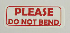 "*PLEASE DO NOT BEND"" Labels -  1"" x 2 5/8"" - ( 600 Total ) -  30 per sheet"