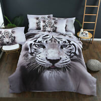 3D Animal Tiger Duvet Quilt Cover Bedding Set Comforter Cover Pillowcases Tiger