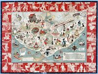 The Land of Mother Goose 1930 pictorial map POSTER 10118002