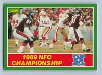 1989  SCORE SAN FRANCISCO 49ers NFC CHAMPIONSHIP GAME - Football Card # 274