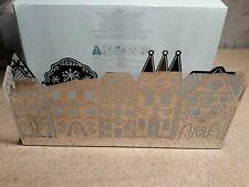 "Classic Partylite Enchanted Gingerbread Village Tea Light Holder 12"" P90817"
