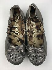 Sam Edelman Ballet Flats Women's Girls Size 3M, Beatrix Pewter 2368