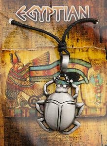 Halskette Anhänger Scarabee - Zinn-Schmuck Ägypten Antike 6988-AD1C