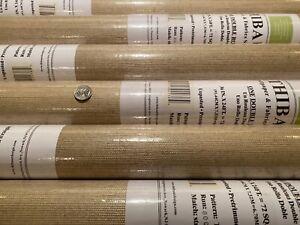 8YD THIBAUT Glitter Grass Taupe Sisal + Metallic Artisanal Wallpaper $410 Retail