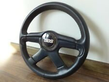 BBS SPORT LEATHER STEERING WHEEL BMW e30 e36 MERCEDES 190 w201 w124 VW golf RARE