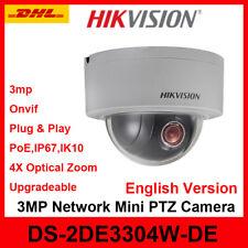 Hikvision DS-2DE3304W-DE 3MP DWDR MINI P&P IP PTZ Dome Camera IP66 4X POE ONVIF