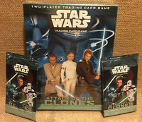 Star Wars Attack of The Clones Trading Card Game NEW with BONUS 2 Booster Packs