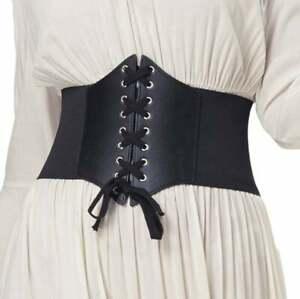 Black Corset belt Renaissance Corset Cincher Elasticity Waistband Belt