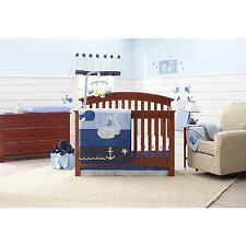 Nautica Kids Brody 4-Piece Crib Bedding Set StarFish, Anchors,Waves and Whales