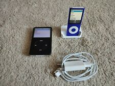 Apple iPod Classic a1136 80gb + nano a1285 8gb mp3 -/video-Player