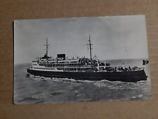 Postcard shipping Ostende ferry Le Malle Ostende-Dover RPPC posted 1953