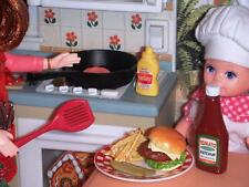Rement Fun Meals Burger Night Fries Lot fit Fisher Price Loving Family Dollhouse
