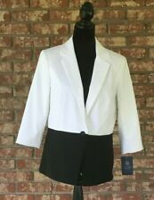 NWT Doncaster Collection White and Black Women's Blazer
