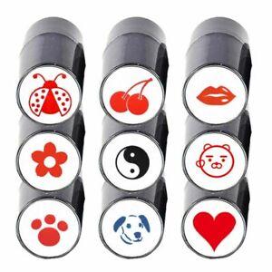 Plastic Multicolors Impression Seal Stamp Marker Quick-dry Golf Ball Stamper