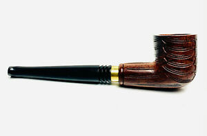 Wooden Tobacco Smoking Pipe Carved Zulu With Pouch Case 16cm UK