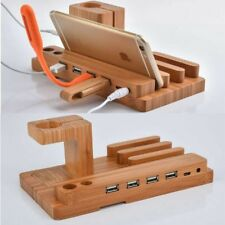 Mobile Phone Charging Support Wooden Watch IPhone Charging Base For IPhone Gifts