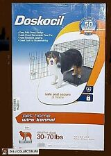 Doskocil Medium, 30 - 70 Lb Dog Black Foldable Wire Home Pet Kennel (Crate)