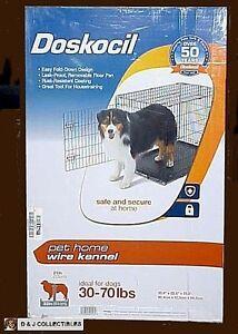 Doskocil Medium, 30 - 70 Lb Dog Black Foldable Wire Home Pet Kennel (Crate)