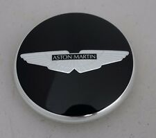 Aston Martin Wheel Centre Badge - Gloss Black with Black Wings