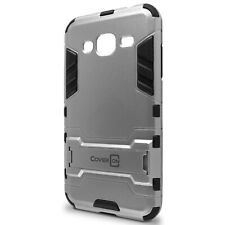 for Samsung Galaxy Sol / Sky Phone Case Armor Kickstand Slim Hard Cover Silver