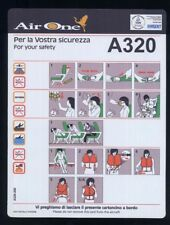 AIR ONE airone Italian Airline A 320 SAFETY CARD light coated alitalia sc767 aa