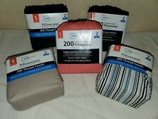 Mainstays 2 Pack Standard Pillow Cases  Brand New