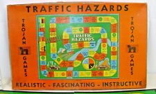 TRAFFIC HAZARDS AUTOMOTIVE BOARD GAME 1930s BY TROJAN GAME BOXED COMPLETE!