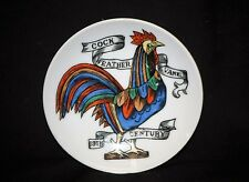 "Old Vintage Cock Weather Vane 19th Century 4"" Plate Lipper & Mann Japan"