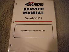 NEW MERCRURY MERCRUISER STERN DRIVE BLACKHAWK RACING SERVICE MANUAL NEW