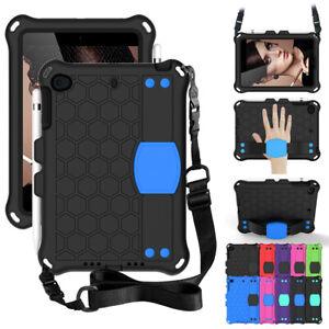 For iPad mini 1 2 3 4 5 Case Rubber Soft Hybrid Shockproof Shoulder Strap Cover