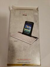 Samsung Galaxy Tab Full Size Keyboard Dock SAMTABKEYB White QWERTY New