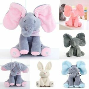 Elephant Electric Toys Robots Pet Ears Move Music Baby Animal Hide Seek Soothing