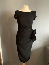 Dorothy Perkins Size 6 Women's Black Wrap  Evening Party Dress BNWT